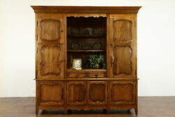 French Country Pine Antique Farmhouse Cabinet Kitchen Pantry Cupboard 37203