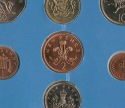 Rare New Pence 1983 Brilliant Uncirculated Set Of 8 Coins Royal Mint Error Issue