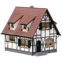 Faller 130257 One Family House With Trim Ho Scale Building Kit