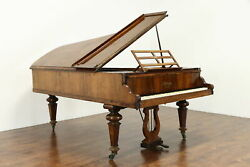 Victorian Antique 1860and039s Rosewood 7and039 Grand Piano Kirkman London 37744