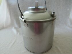 Rare Vintage Chesapeake And Ohio Railroad Candory Large Metal Oil Can With Wood