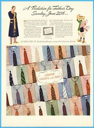 1937 Arrow Shirts And Ties Cluett Peabody And Co Troy Ny Fathers Day Prediction Ad