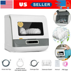 Portable Countertop Dishwasher Compact Dishwashers Fruit Vegetables Dishes Clean