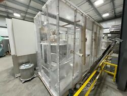 Plexiglas Powder Coating Booth With Metal Floor Used 5and0393 X 8and0399 X 16and039