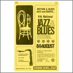 Rolling Stones 64 4th National Jazz And Blues Festival Flyer Bill Wyman Archive Uk