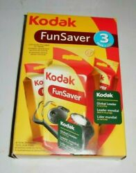 Kodak Fun Saver 3 Pack Cameras With Flash 81 Pictures Brand New Expired 07/2012