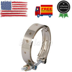 Exhaust Turbo V-band Outlet Clamp Fits 89-02 Dodge Ram 2500 3500 5.9l 6bt Engine