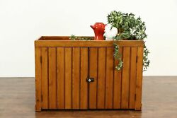 Country Pine Farmhouse Kitchen Pantry Primitive Wainscoting Dry Sink 36353