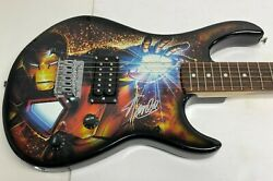 Stan Lee Signed Peavey Marvel Full Size Iron Man Electric Guitar Psa/dna Ac32730