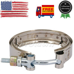 For 89-02 Dodge Ram 2500 3500 5.9l 6bt Exhaust Outlet V-band Clamp Stainless Usa