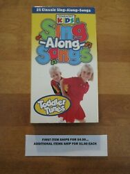 Vhs Tape Cedarmont Kids Sing-along-songs - Toddler Tunes 1.65 Ship 4/1