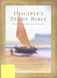 Disciple's Study Bible New International Version, Black Bonded Leather, Ind...