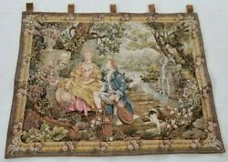 Vintage French Love Garden Tapestry Wall Hanging Panel 117x91cm