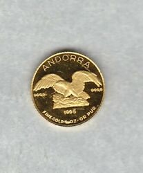 1995 Andorra Gold 5 Diners In Mint Condition.