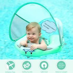 Baby Swimming Ring Swim Trainer Non-inflatable Sunshade Kids Float Pool Toys