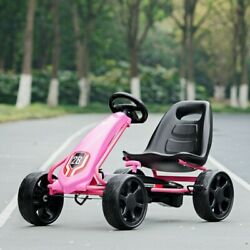 Pedal Go Kart Kids Bike Car Ride On Toys W/4 Wheels And Adjustable Seat Pink
