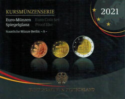 2021 Germany Euro Proof Coin Set - Berlin Mint Mark A