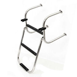 Lowe Boat Transom Ladder 2191761 | 3 Step 24 3/4 Inch Stainless