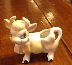 Vintage Pink And White Cow Creamer