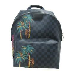 Authentic Louis Vuitton Apollo Backpack Rucksack N50003 Damier Cobalt Grey Used