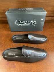 Nwt Msrp 89 Carlos Santana Brown Leather Planeo Slides Size 13d