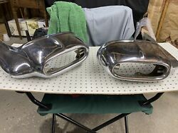 1958 Pontiac Bonneville Right And Left Front Turn Signal Bumper / 1