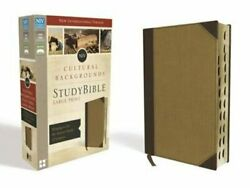 Niv, Cultural Backgrounds Study Bible, Large Print, Imitation Leather, Tan, New