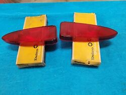 Nos Gm 1961buick Special Rear Tail Light Stop Lamp Lenses Lens 61 Taillight New