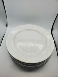 Antique White Ironstone Set Of 10 Dinner Plates Flora Wedgwood And Co 10 5/8and039and039 W