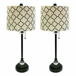 Royal Designs 28 Oil Rub Bronze Lamp With Eggshell And Off-white