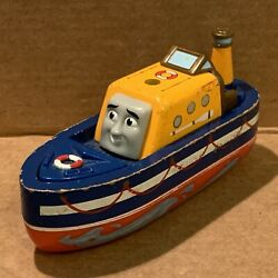 Captain With Waves - Rescue Boat - Thomas And Friends Wooden Ssrc Used Train Tank