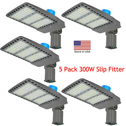 Led Parking Lot Lights 5 Pack 300w Led Street Commercial Light, 5 Years Warranty