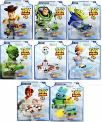 Mattel Hot Wheels Toy Story 4 - Complete Set Of 8 Collectible Character Cars
