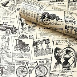 Contact Paper Newspaper Removable Peel and Stick Wallpaper Self Adhesive New