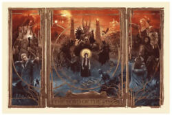 The Lord Of The Rings Triptych Gabz Bottleneck Mondo Poster Print Lotr 🤩💴 New