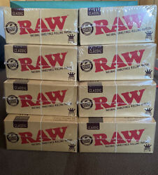 8 Boxes 50 Pack Authentic Raw Classic King Size Rolling Paper 32 Per Pack