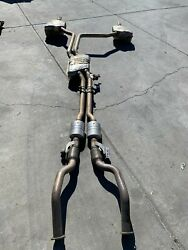 2011 2012 Audi A8 Front Mid Rear Exhaust System Muffler And Tail End Pipe Oem