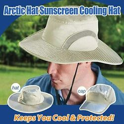 Unisex Uv Protection Hydro Evaporative Cooling Bucket Hat With Cooler Arctic Cap
