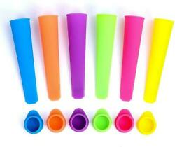 Silicone Popsicle Molds Squeezable Ice Pop Homemade Bags amp; Attached Lids 6 Pack