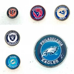 Football Teams Snap Buttons 18-20mm Fit Ginger Snap Jewelry Fast Shipping