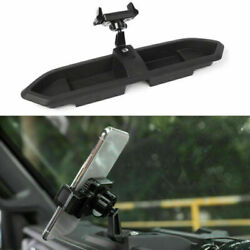 Car Mount For Cell Phone Holder Gps Storage Organizers Tray For Jeep Jl 2018+ Ca
