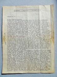 1937 George Grosz Letter Signed Handwritten And Typed Life, Art, Spain's Civil War
