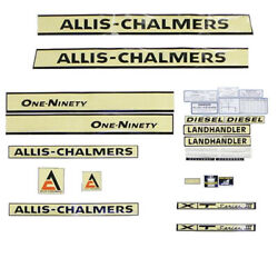 S70727 Complete Creme Decal Kit Fits Allis Chalmers Tractor Models 190 190xt
