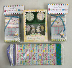 Lot Of Easter 8 Cupcake Treat Boxes 24 Cupcake Cases/toppers 20 Goodie Bags New