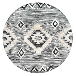 Nuloom Area Rug 8 Ft. X 8 Ft. Dark Shade Woven Weave Hand-made Round