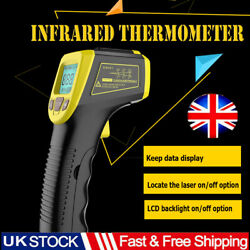 Uk Industrial Digital Laser Temperature Gun Infrared Thermometer Non-contact Lcd