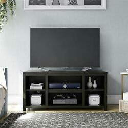 New Mainstays Parsons Cubby Tv Stand For Tvs Up To 50 True Black Oak