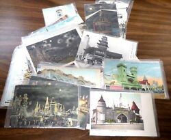 Lot Of 40 - Vintage 1905 To 1914 Coney Island Postcards Used And Unused