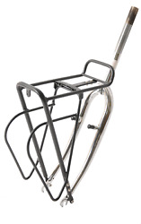 Bike Front Carrier Rack Alloy 24-28 Wheels Shopping Luggage Carrier Black