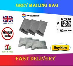 Grey Mailing Bags Strong Self-seal Shipping Pouches Plastic Postal Mailers